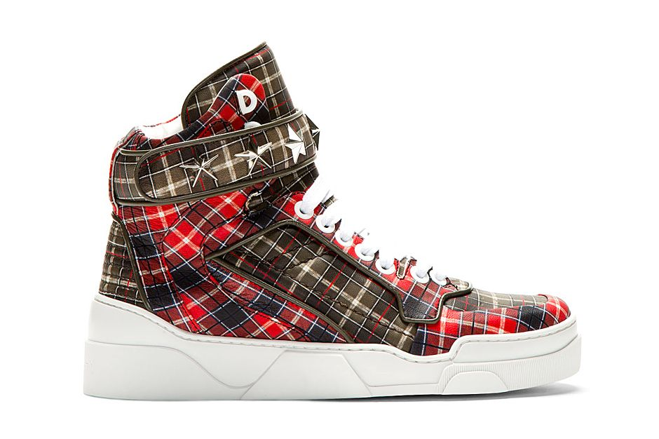 Givenchy Red Calfskin Plaid Tyson High Top | High top
