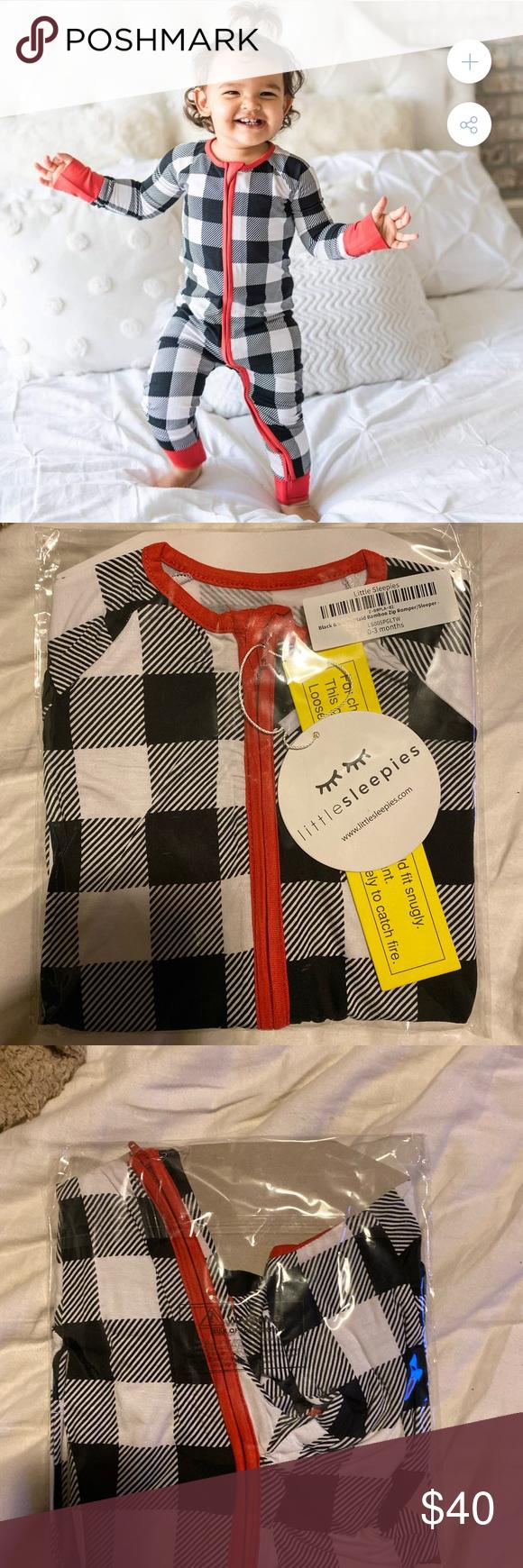 [Little Sleepies] Buffalo Plaid Zippy Pajamas Foldover
