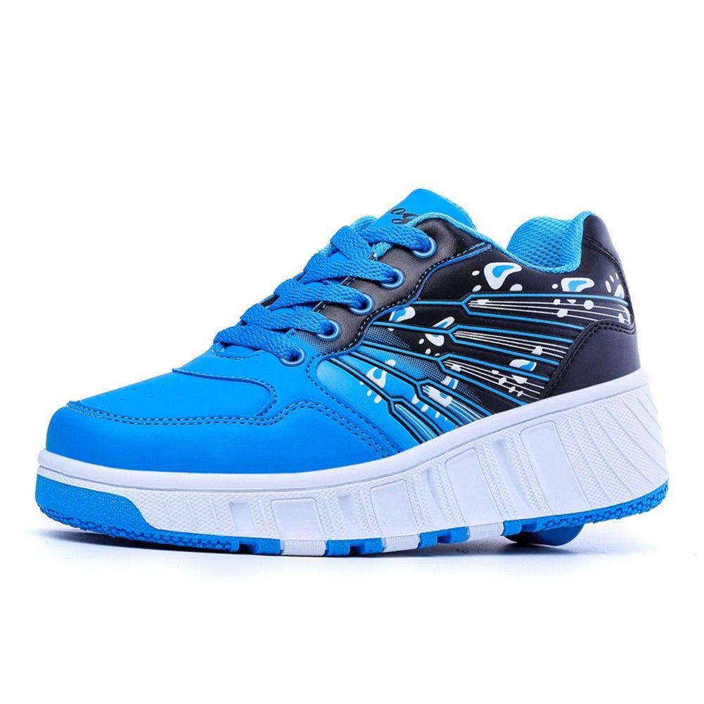 Blau Schuhe Mit Eingebauten Rollen