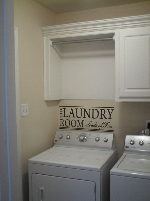 Photo of Laundry Room Vinyl Decal | Home Wall Decor