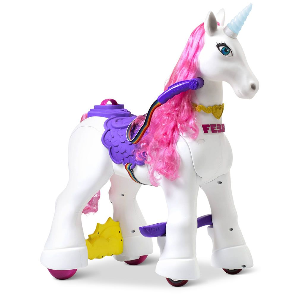 WALKING REMOTE CONTROL PINK COLOR RAINBOW UNICORN  makes sound TOY fantasy horse