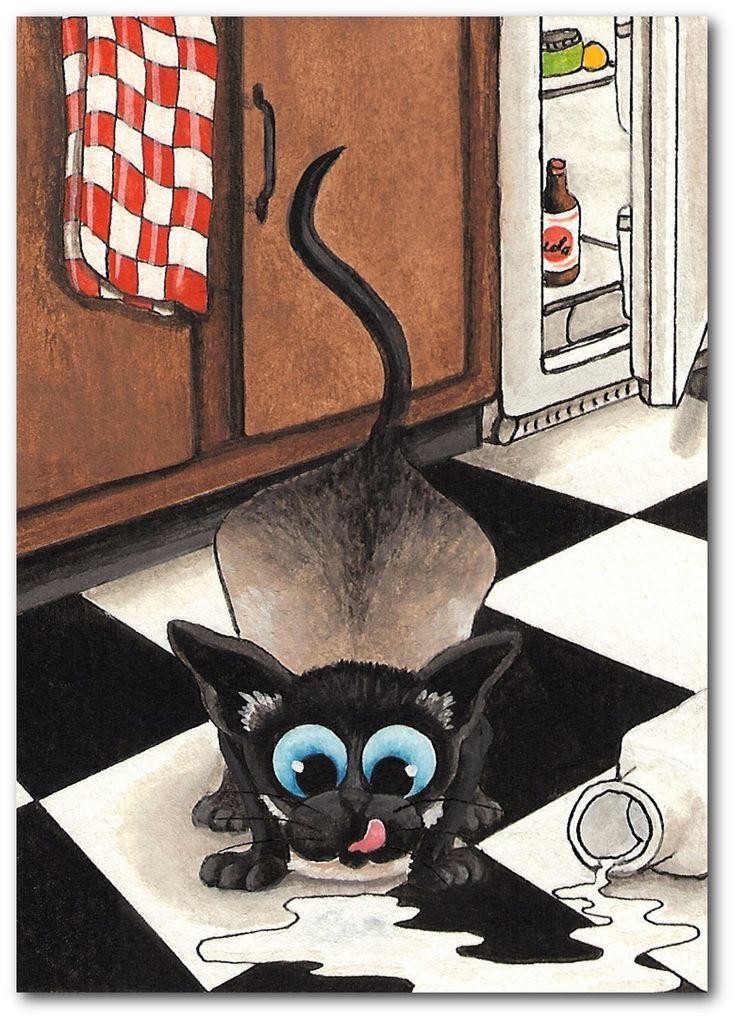 Siamese Cat Original Painting ~ AmyLyn Bihrle