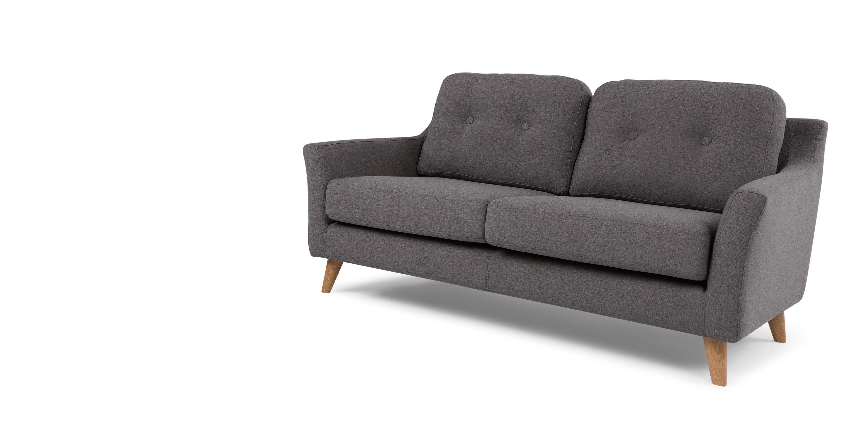 Rufus 2 Sitzer Sofa Nashorngrau Neues Design Fr Dein Wohnzimmer Entdecke Jetzt