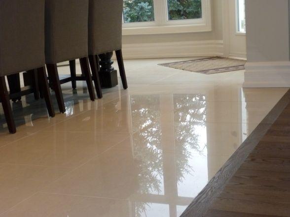 Image Result For Real Wood To Laminate Transition With Images Polished Porcelain Tiles Living Room Flooring Porcelain Flooring