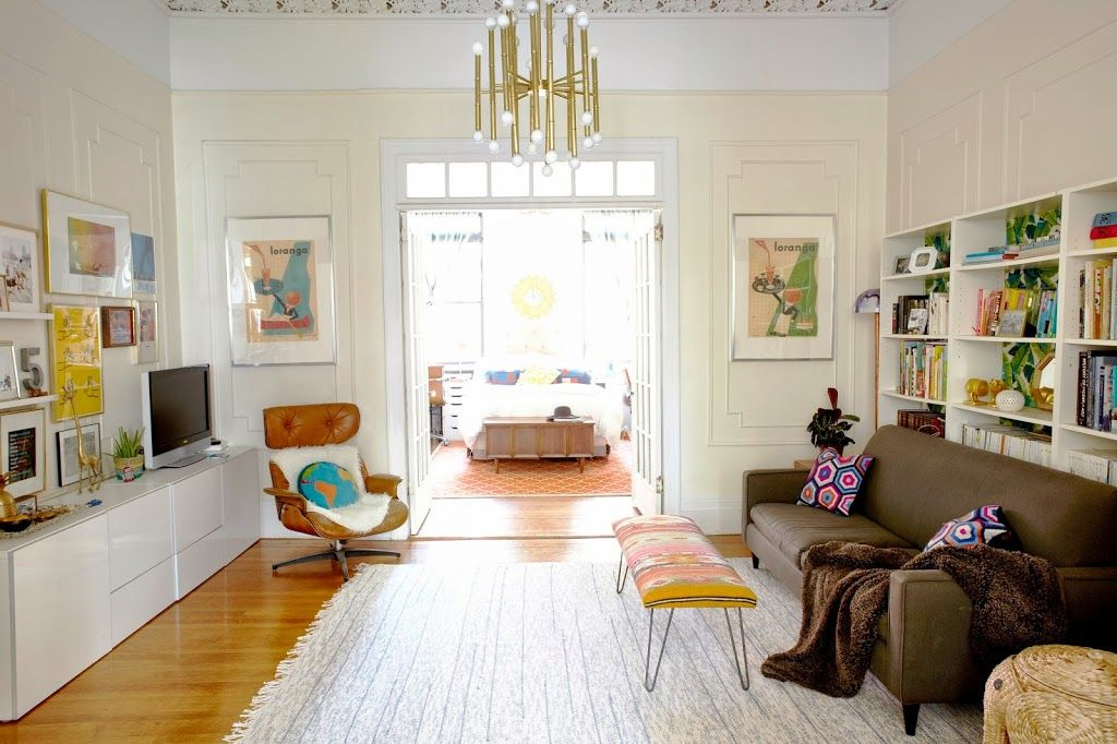 Brooklyn Apartment Tour A Cup Of Jo Living Room Inspiration Apartment Living Room Brooklyn Apartment Decor Inspiration