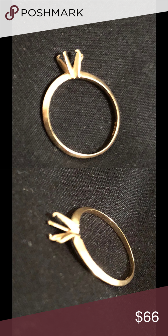 10kt Gold 4 Prong Missing Stone Ring 10kt Gold Stone Rings Jewelry Rings