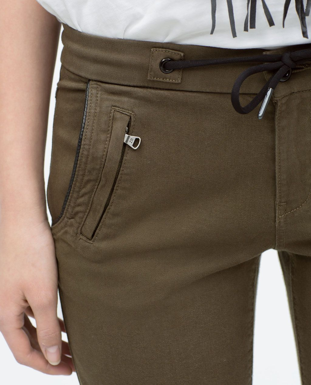 Pantalón 6 Polipiel Zara Cargo Imagen Pants Vivo De Contraste fwEnqv