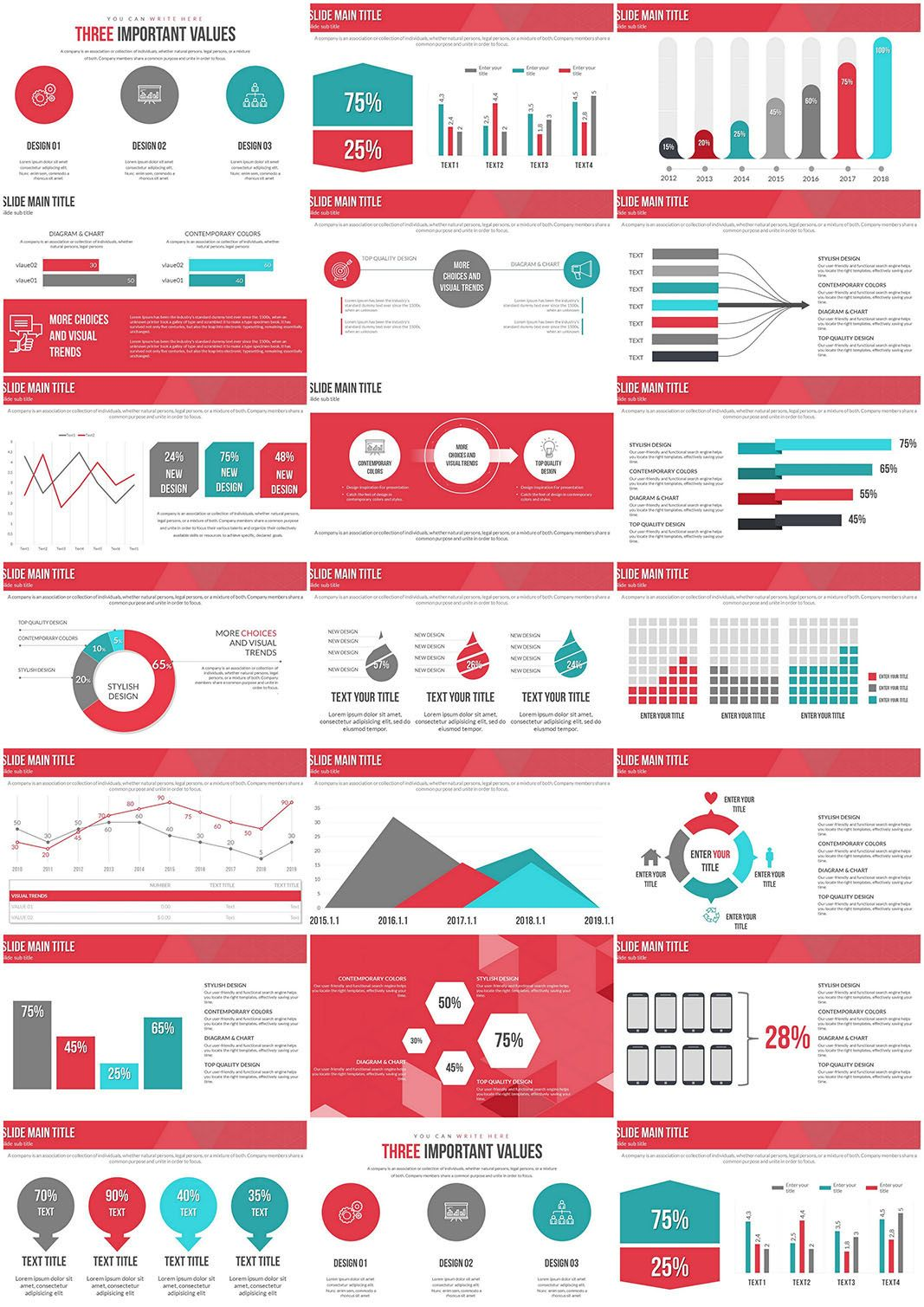 Graphs Of Economic Indicators Powerpoint Charts Powerpoint