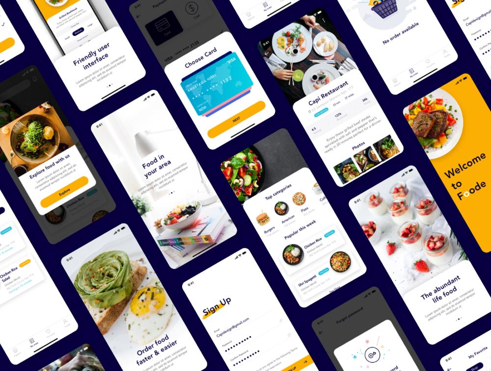 Foode - Best Food Order Mobile App — Figma Resources on UI8 in 2020 | Food  signs, Mobile app, Food
