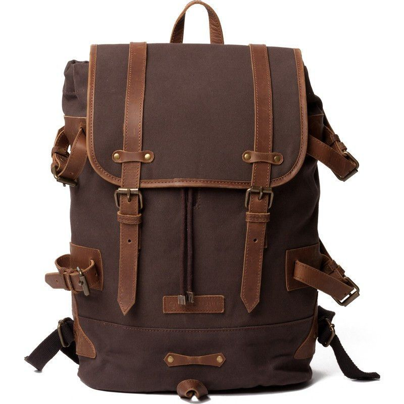 United By Blue Derby Tier Cinch Backpack Chocolate