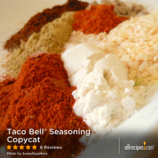 Taco Bell Seasoning Copycat Recipe Taco Seasoning Recipe Taco Mix Seasoning Diy Taco Seasoning