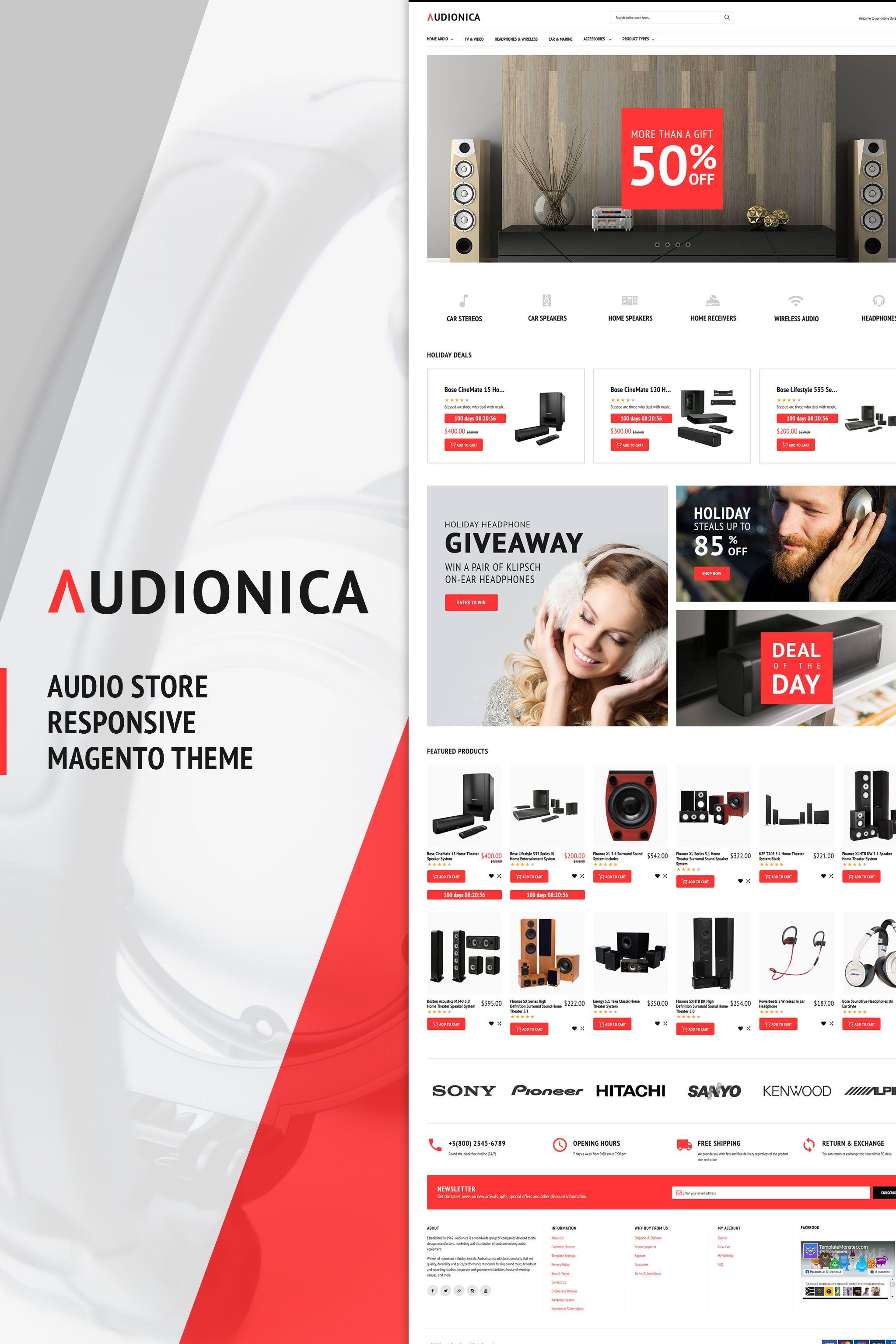 Audionica - Audio Shop Magento Theme | Web Design | Pinterest