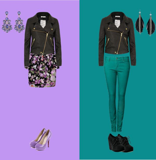 """""""Two ways to wear a Leather Jacket"""" by melissa-ertler ❤ liked on Polyvore"""