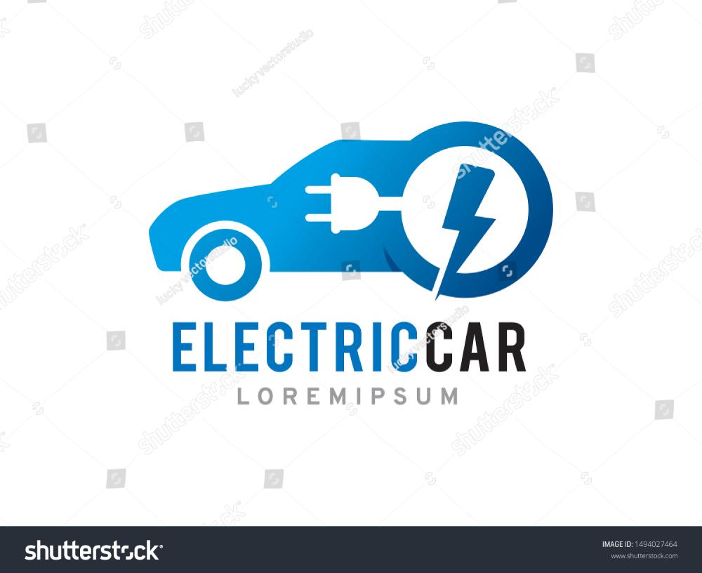 Electric Car Logo Symbol Icon Template Stock Vector