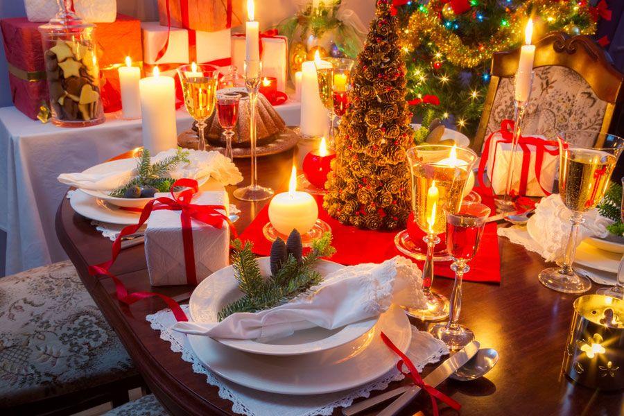 C mo decorar la mesa para la cena de navidad varias - Adornar mesa de navidad ...