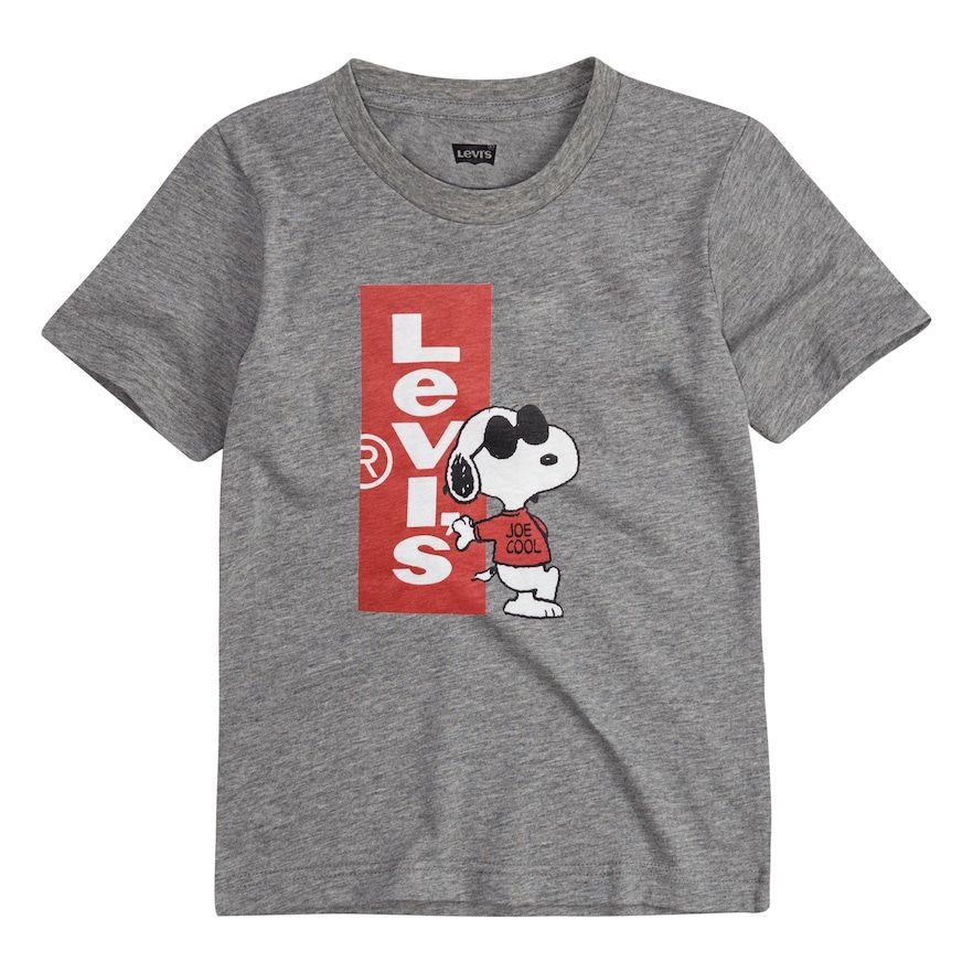 565c629753f5 Levi's Levis Boys 4-7 Peanuts Snoopy in Sunglasses Graphic Tee ...