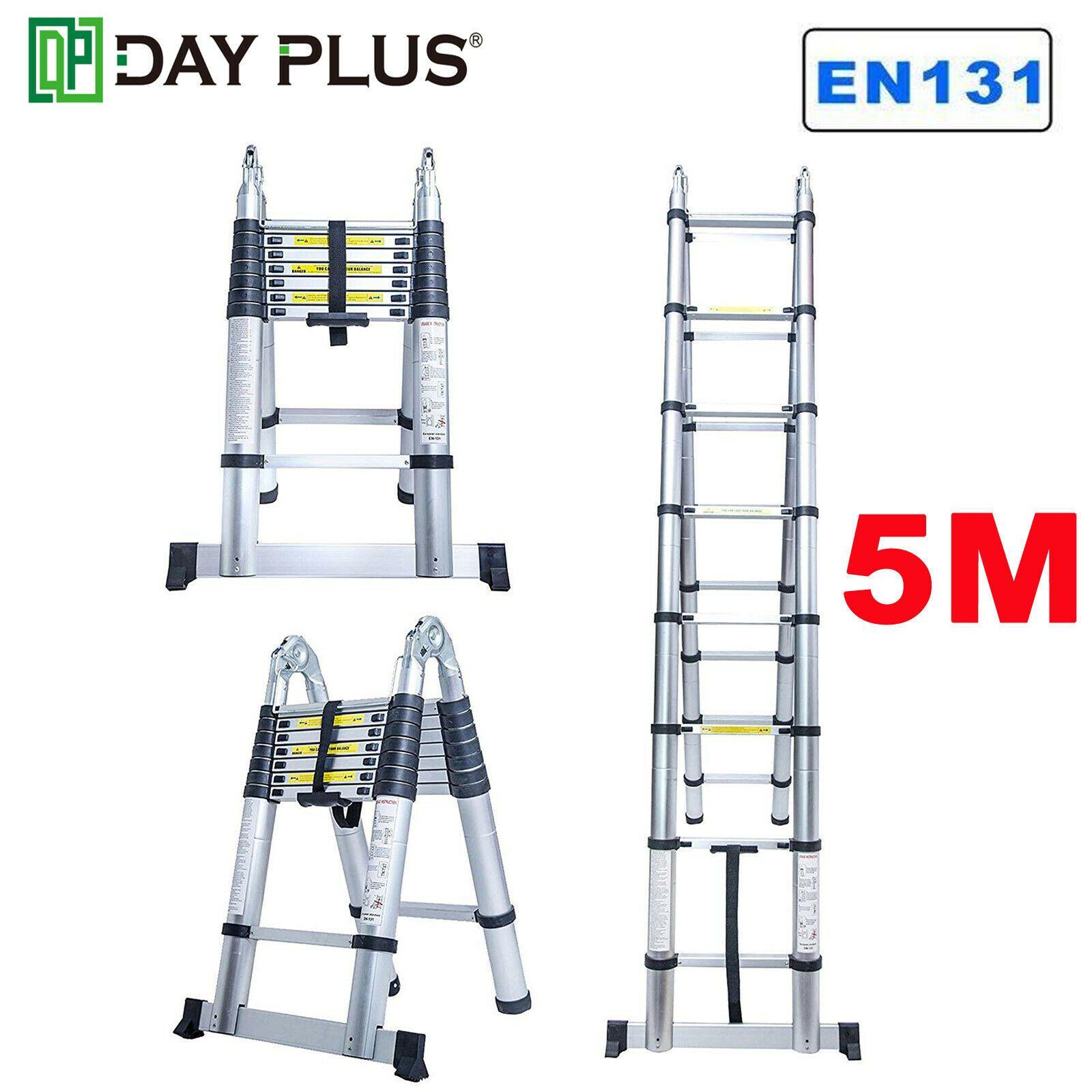 16 5ft Flexible Telescopic Aluminum Extension Fold Ladder Steps Heavy Duty Tool Ladder Decor Ladderdecor In 2020 Telescopic Ladder Aluminum Extension Ladder Decor