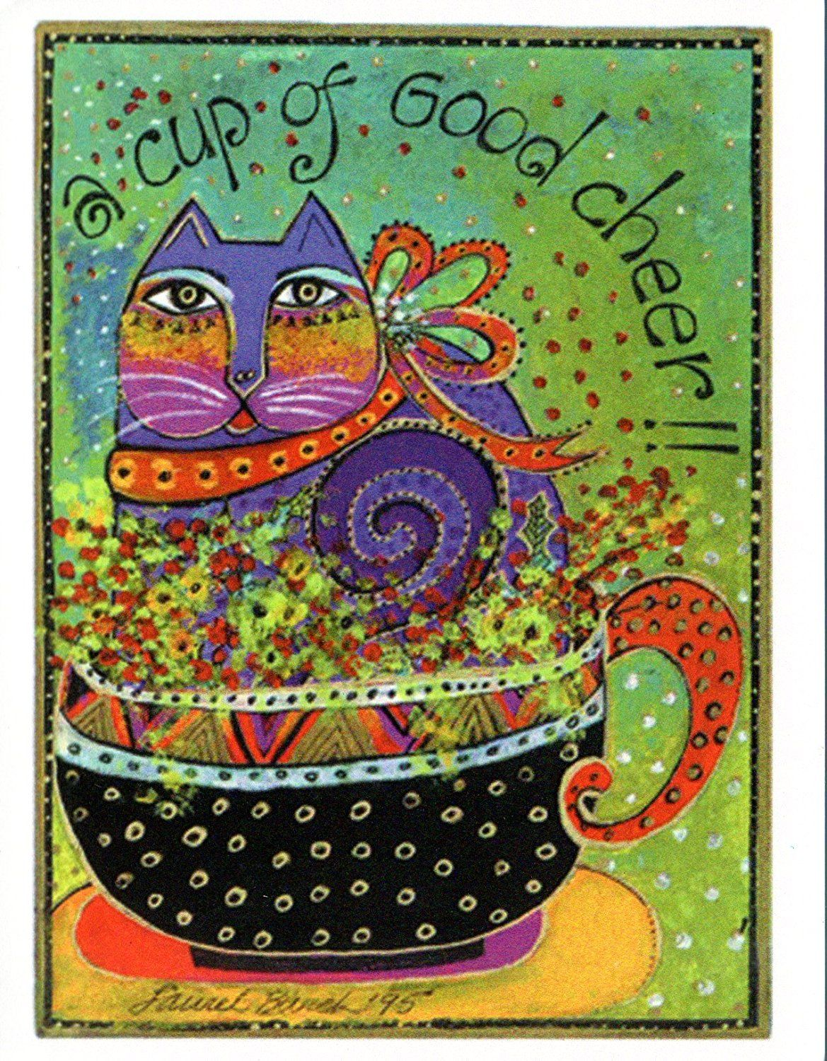 Laurel burch greeted note card assortment by leanin tree