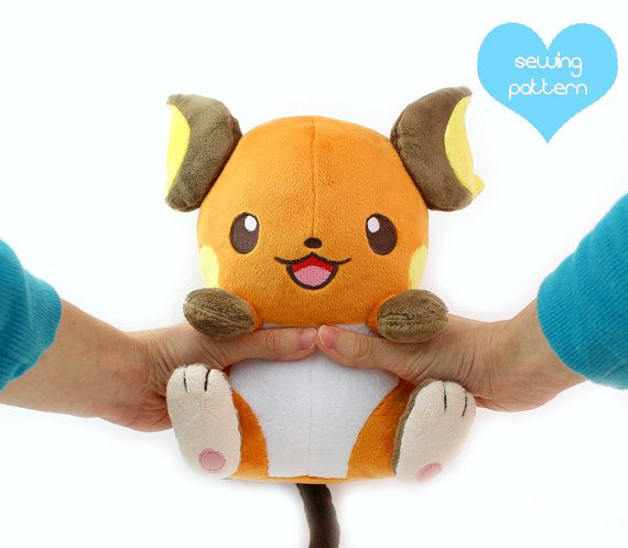PDF sewing pattern - kawaii anime chibi electric mouse rat plush ...