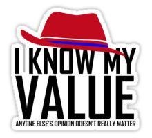 Peggy Carter Value | Agent Carter Sticker