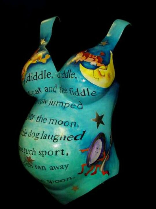 Belly Mold with nursery rhyme.