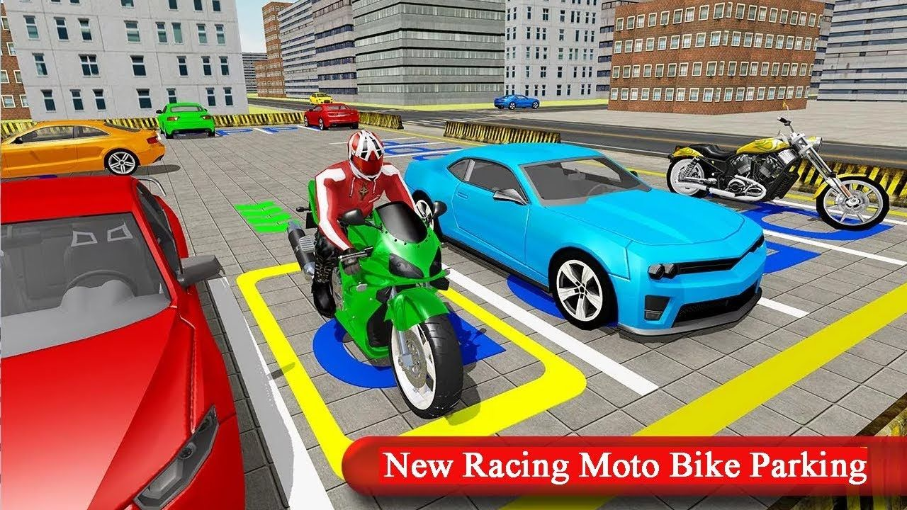 New Racing Moto Bike Parking Cars Racing Games For Kids Q