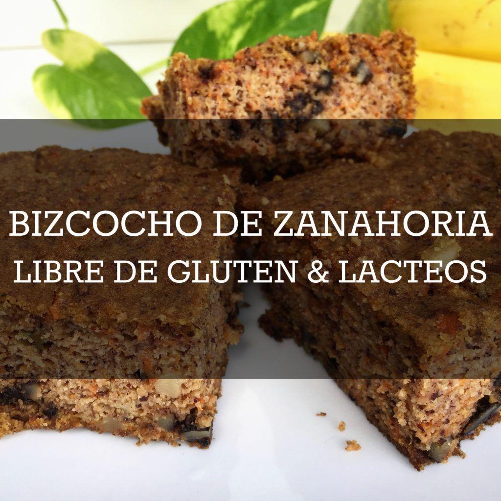 Bizcocho de Zanahoria Libre de Gluten y Lacteos. Bajo en azucar.