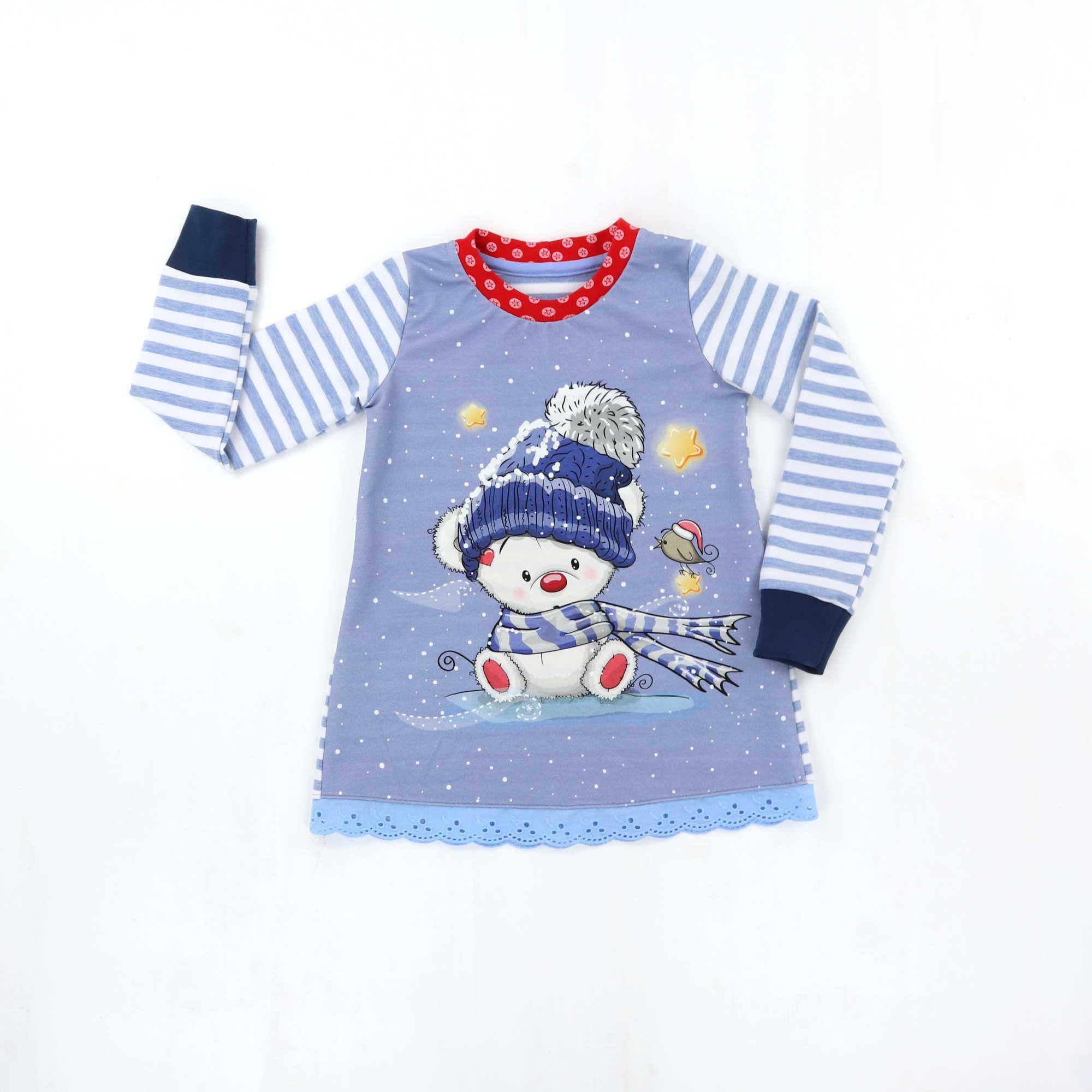 Madchenshirt 110 Tunika Teddybar Longshirt Sweat Tunika Kleid Madchen Winterteddy Mit Bildern Longshirt Madchen Madchen Shirts