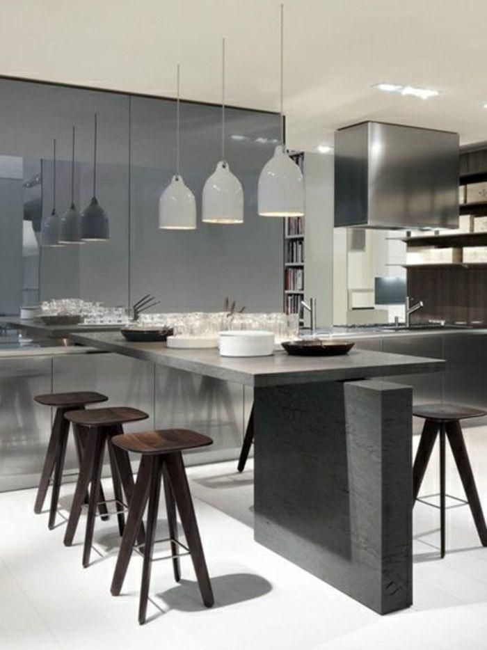 45 idées en photos pour bien choisir un îlot de cuisine Salons - pose d une hotte decorative