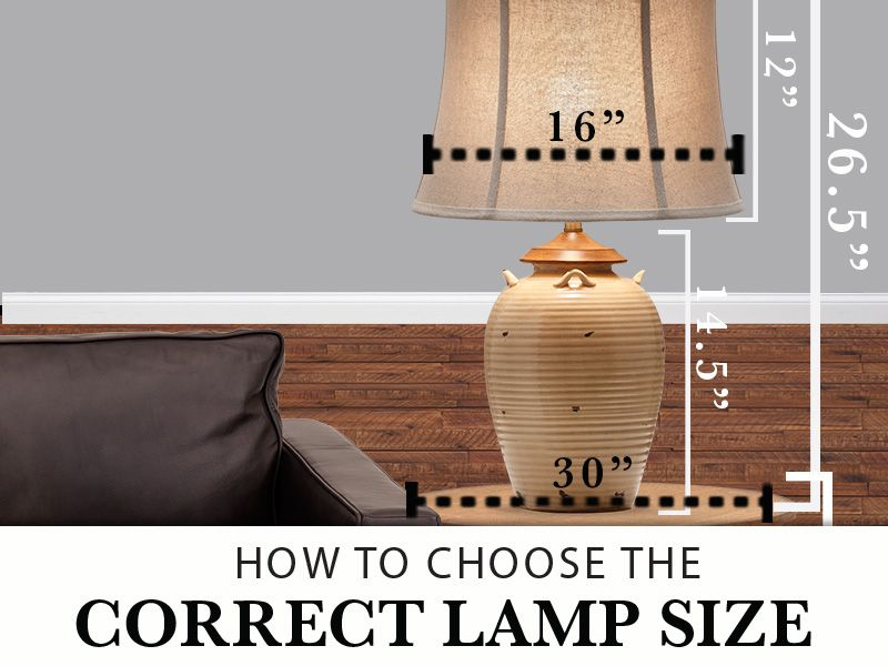 Choose The Correct Lamp Size Guide The Front Door Table Lamps Living Room Big Table Lamps Table Lamp Shades