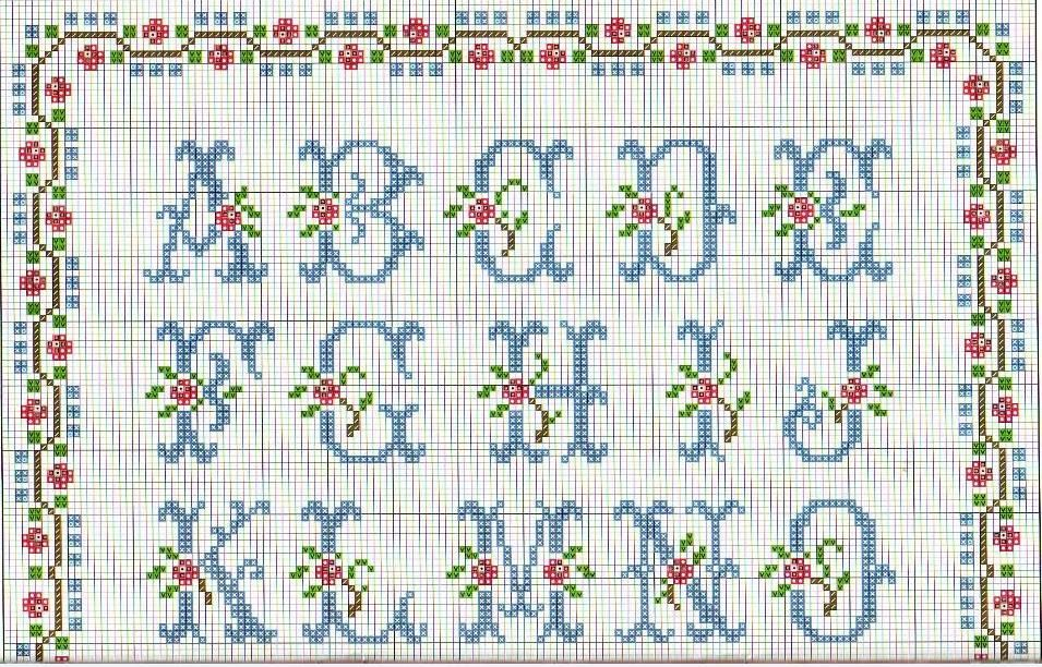 Patrones y esquemas gratis abecedario a punto de cruz - Muestras y motivos punto de cruz ...