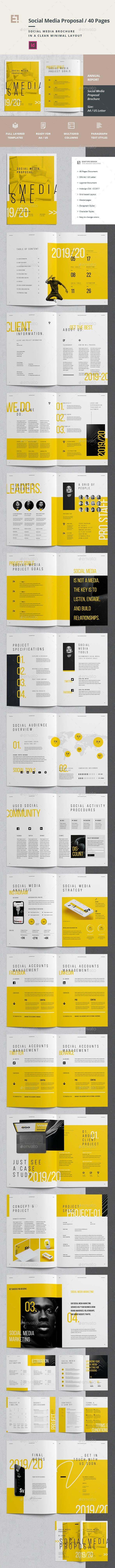 Social Media Proposal #8 5x11 #cloud | Layout design | Brand manual