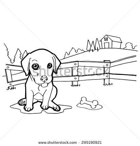 Coloring Book With Dogs สม ดระบายส ภาพประกอบ