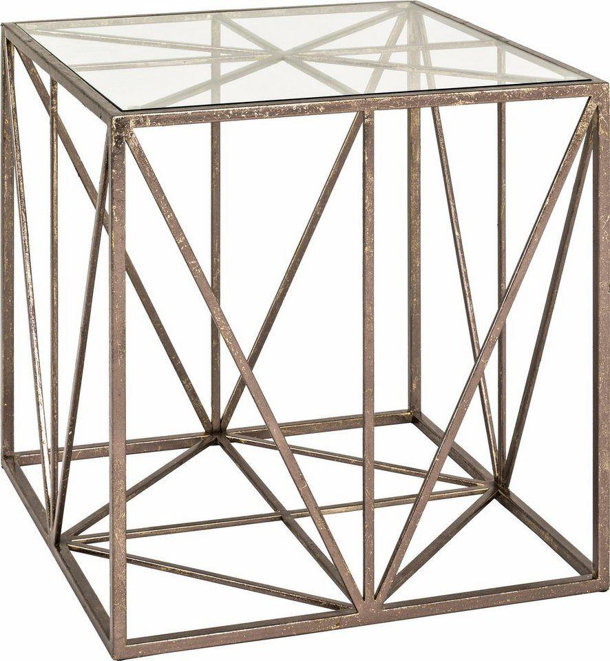HAKU Beistelltisch für 179,99€. 0,8 cm starke Tischplatte, Gestell aus Metall, In verschiedenen Formen bei OTTO