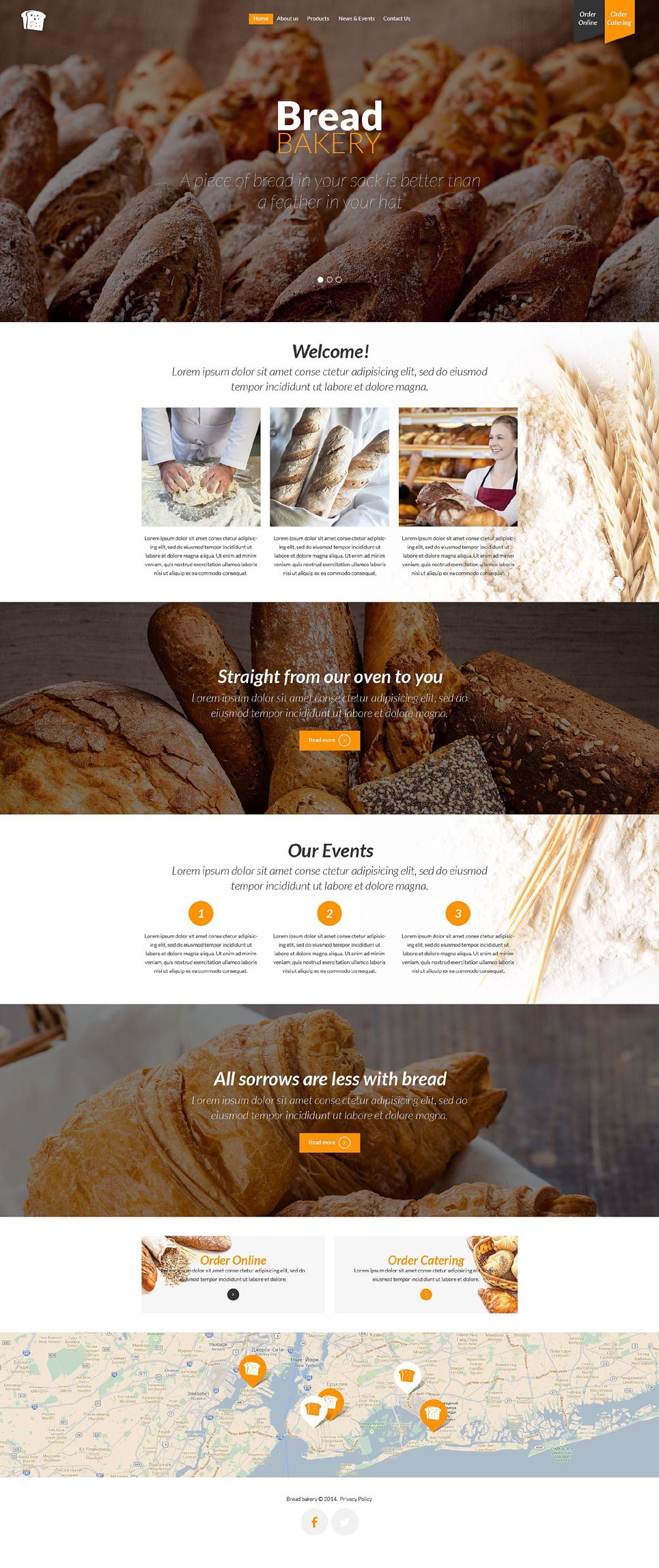 Bakery Responsive Website Template 52572 Bakery Website Bakery Food Web Design