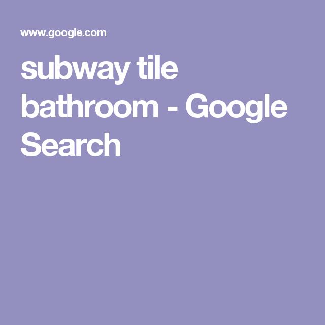 subway tile bathroom - Google Search