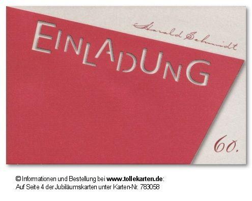 Auffällige Gestaltung Von Einladungskarten Zum 60. Geburtstag