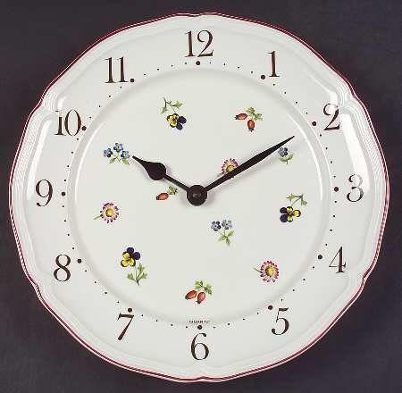 Villeroy & Boch Petite Fleur Clock Plate, Fine China Dinnerware by ...