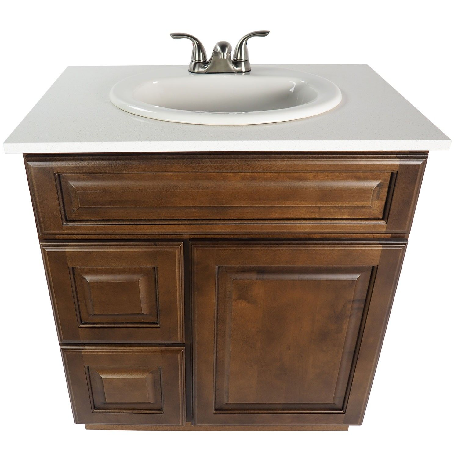 30 Inch Bathroom Vanity Single Sink Cabinet In Juniper Chestnut Dark Brown Wood With Soft Close Drawers 30 Inch Bathroom Vanity Bathroom Vanity Sink Cabinet