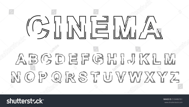 Modern Outline Font – Articleblog info
