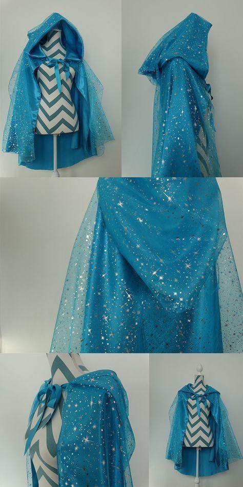 Couture : la cape La reine des neiges | Deguisement princesse, Déguisement reine des neiges ...