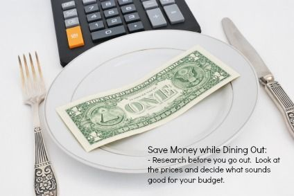 Helpful tip for dining out while staying within your budget!