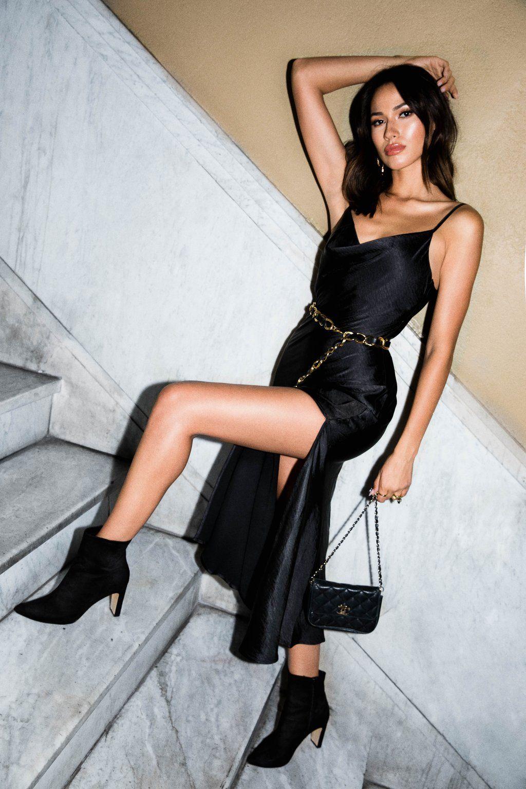 Frances Black Slip Dress 12th Tribe Slip Dress Outfit Black Slip Dress Black Slip Dress Outfit [ 1536 x 1024 Pixel ]