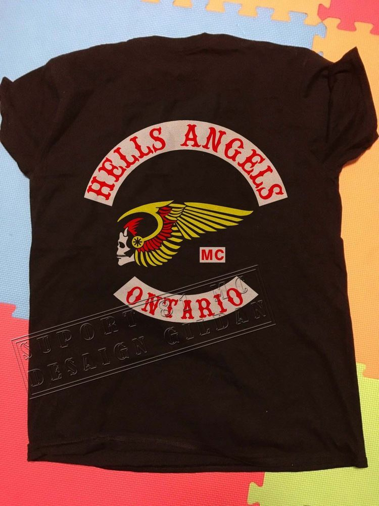 2b4c845429 Hells Angels ONTARIO T-shirt Support 81 big red Machine Gildan Reprint  #fashion #clothing #shoes #accessories #mensclothing #shirts (ebay link)