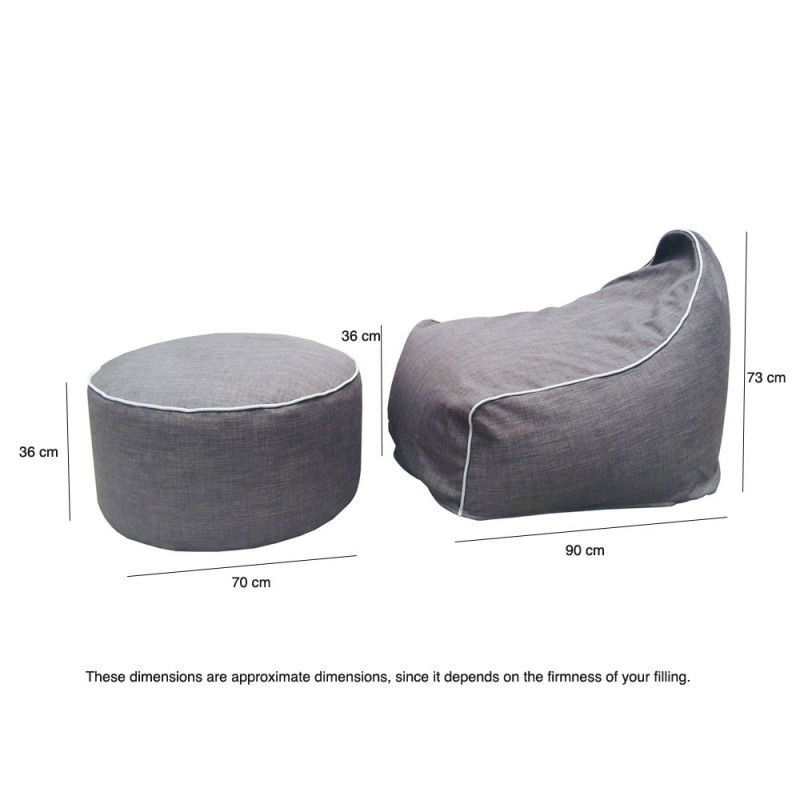 indoor beanbag ottoman | Library furniture | Pinterest ...