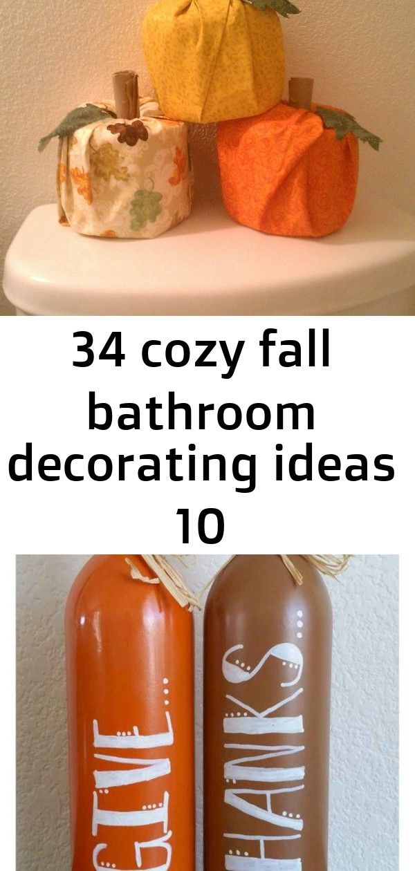 34 cozy fall bathroom decorating ideas 10