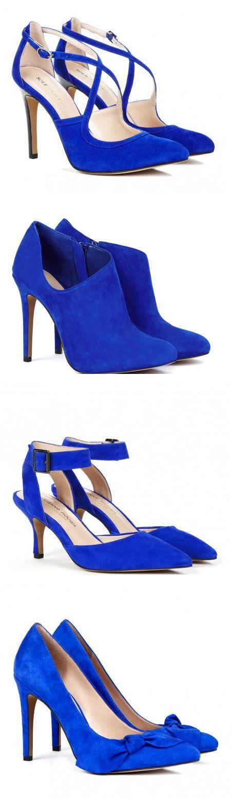 Boots, Shoes, Cobalt blue heels