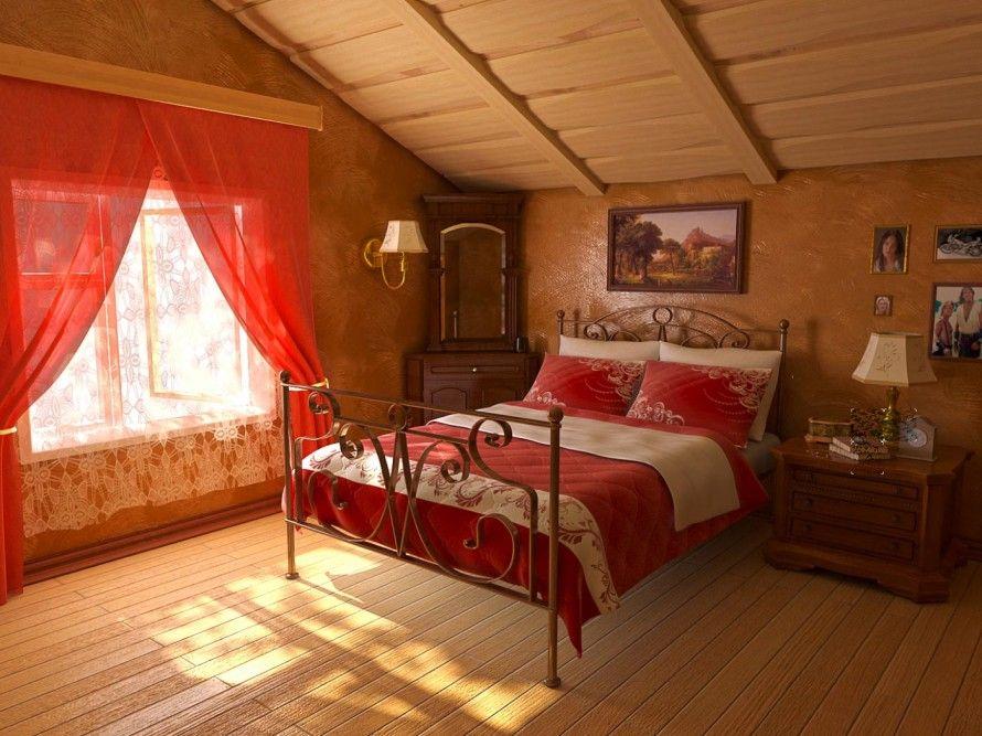 Coole Kleine Innen Schlafzimmer Deko-Ideen Rote Farbe Coole Ideen - Deko Für Schlafzimmer