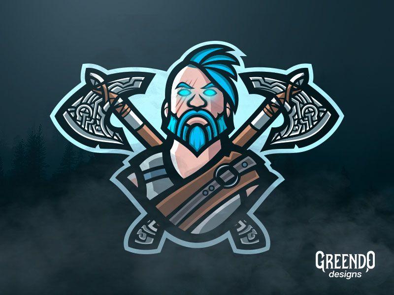 Fortnite Ragnarok Mascot Logo Com Imagens Logotipo Do Jogo