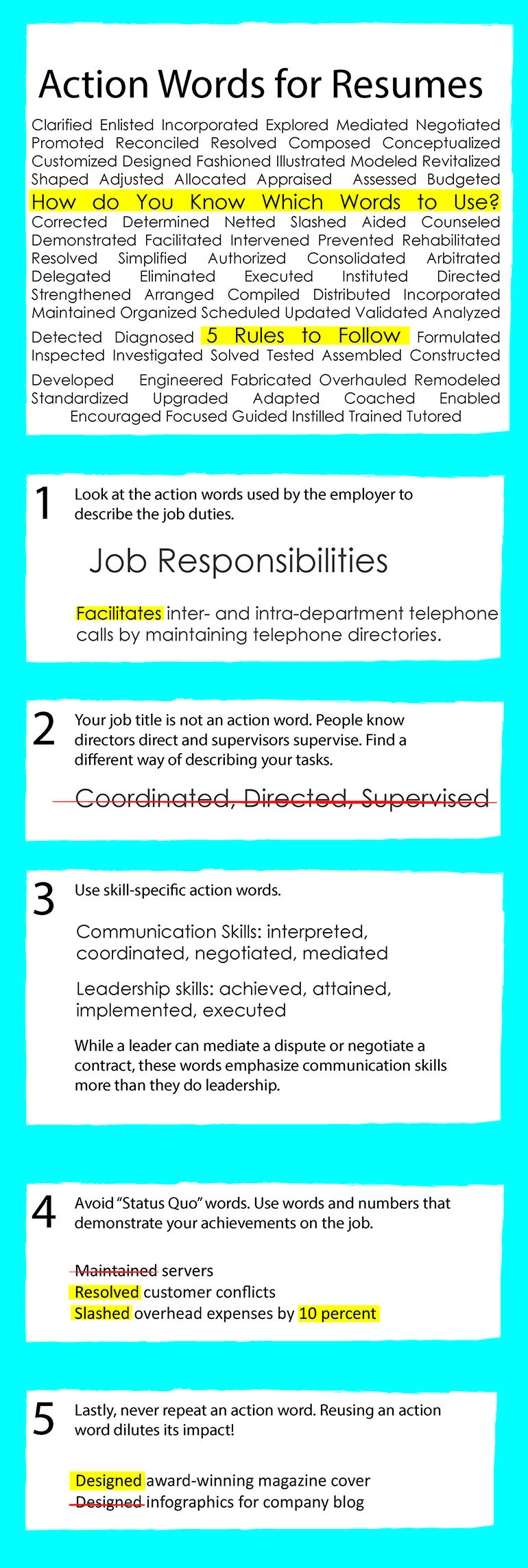 Easiest way to liven up your resume pack it with